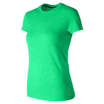 New Balance M4M Seamless Short Sleeve, Agave Heather