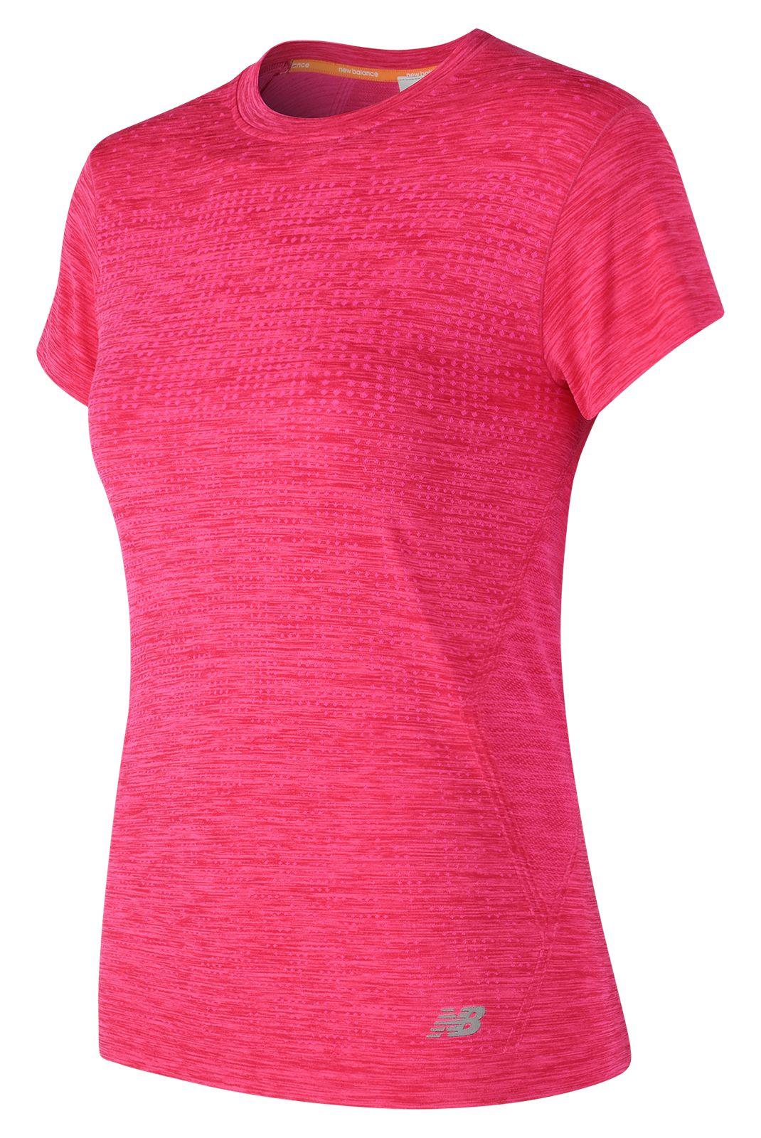 NB M4M Seamless Short Sleeve, Alpha Pink Heather