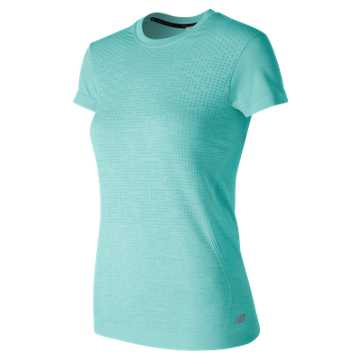 New Balance M4M Seamless Short Sleeve, Ozone Blue Glow Heather