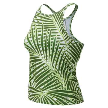 New Balance J.Crew High Neck Printed Tank, Palm Print