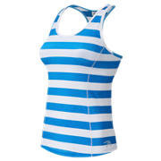 NB J. Crew Printed Racerback Tank Top, Steely Ocean Blue Rugby Stripe with Plaster White