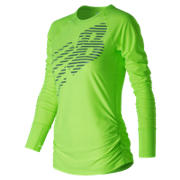 New Balance Viz Long Sleeve, Lime Glo