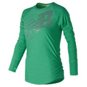 NB Viz Long Sleeve, Vivid Jade Heather