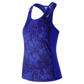 New Balance NB Ice Printed Tank, Frozen Fade with Vivid Cobalt Multi