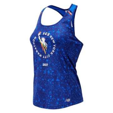 New Balance NYC Marathon NB Ice Printed Tank, Vivid Cobalt Blue