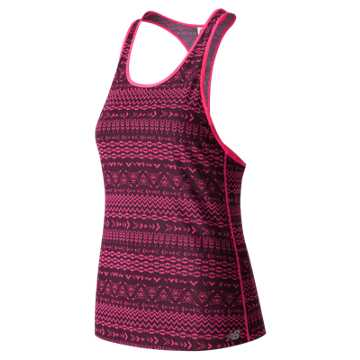 New Balance Mesh Tank, Burgundy with Black