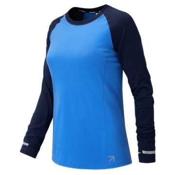 New Balance J.Crew In Transit Long Sleeve, Steely Ocean