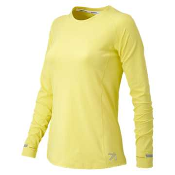 New Balance J.Crew In Transit Long Sleeve, Vivid Yellow