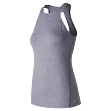 New Balance Open Back Tank, Deep Cosmic Sky Heather
