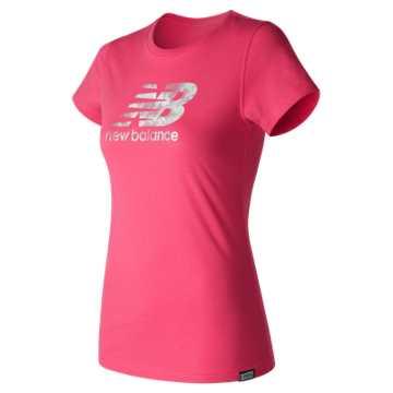 New Balance Batik Logo Tee, Alpha Pink