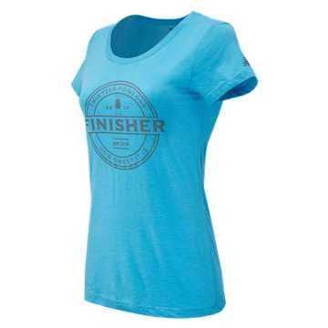New Balance Brooklyn Half Finisher Tee, Aquarius