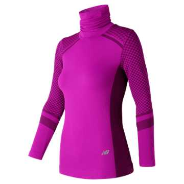 New Balance M4M Seamless Heat Long Sleeve, Poisonberry