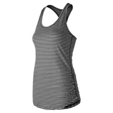 New Balance Printed Transform Tank, Black Heather with Black