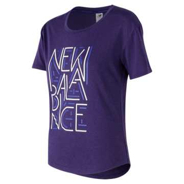 New Balance Graphic Heather Tech Tee, Tempest Heather