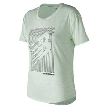 New Balance Graphic Heather Tech Tee, Water Vapor Heather