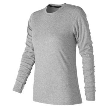 New Balance Heather Tech Long Sleeve, Athletic Grey
