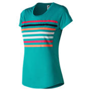 New Balance Accelerate Printed Short Sleeve, Pisces