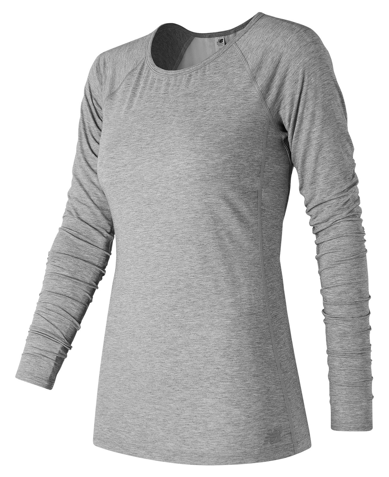 NB Long Sleeve Layer, Athletic Grey