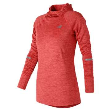 New Balance NB Heat Hoodie, Energy Red Heather