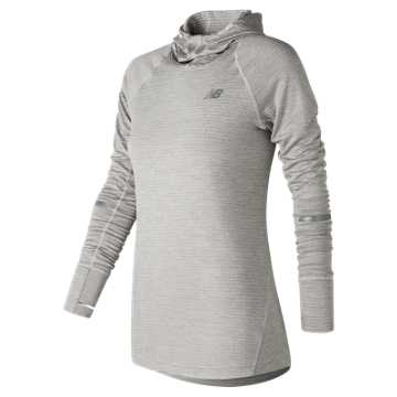New Balance NB Heat Hoodie, Sea Salt Heather