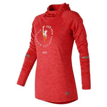 New Balance NYC Marathon NB Heat Hoodie, Energy Red Heather