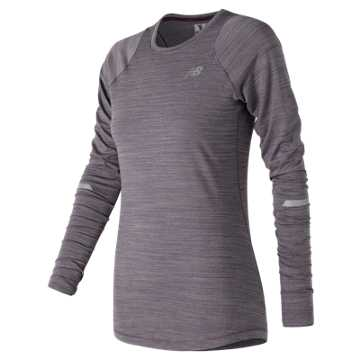 New Balance Seasonless Long Sleeve, Elderberry Heather