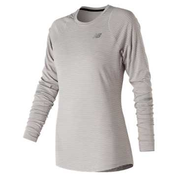 New Balance Seasonless Long Sleeve, Overcast Heather