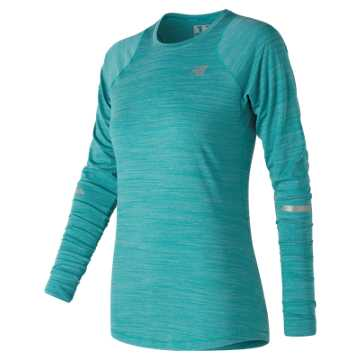 New Balance Seasonless Long Sleeve, Pisces Heather