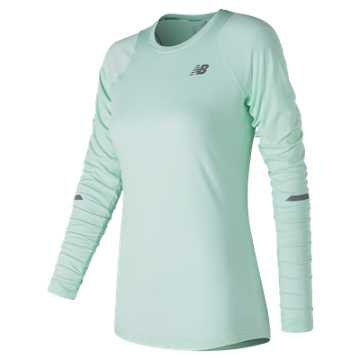 New Balance Seasonless Long Sleeve, Water Vapor Heather