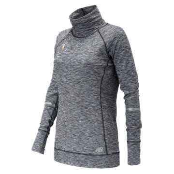 New Balance NYC Marathon In Transit Tunic Top, Black with White