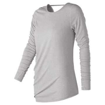 New Balance Long Sleeve Layering Tee, Sea Salt Heather