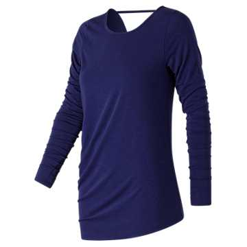 New Balance Long Sleeve Layering Tee, Tempest Heather