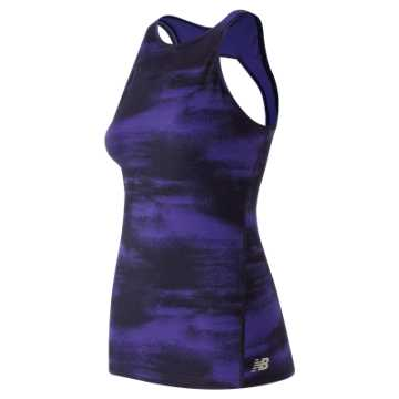 New Balance Evolve Open Printed Tank, Frozen Surfaces with Black