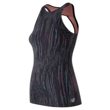 New Balance Evolve Open Printed Tank, Radiant Wave Print