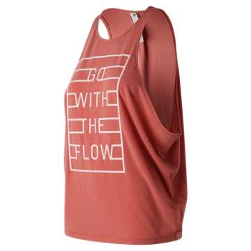 New Balance Graphic Wedge Layering Tank, Copper Rose Heather
