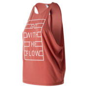 NB Graphic Wedge Layering Tank, Copper Rose Heather
