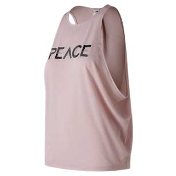 New Balance Graphic Wedge Layering Tank, Faded Rose