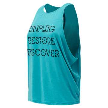 New Balance Graphic Wedge Layering Tank, Pisces Heather