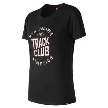 New Balance 短袖T恤 女款  舒适面料 运动休闲, BK