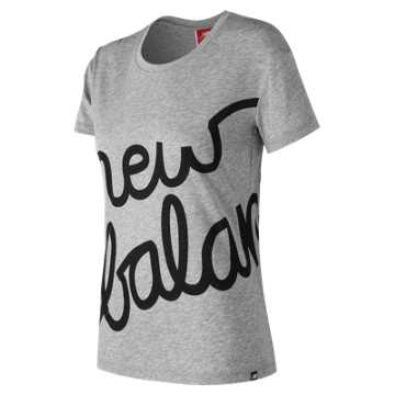 New Balance NB Logo Tee, Athletic Grey