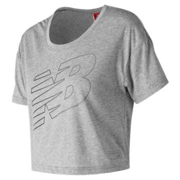 New Balance NB Athletics Cropped Tee, Athletic Grey