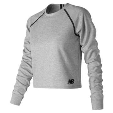 New Balance 247 Luxe Crop Long Sleeve, Athletic Grey
