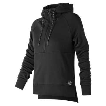 New Balance NB Athletics Half Zip Hoodie, Black