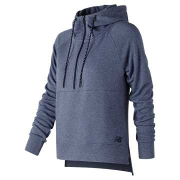 New Balance NB Athletics Half Zip Hoodie, Vintage Indigo Heather