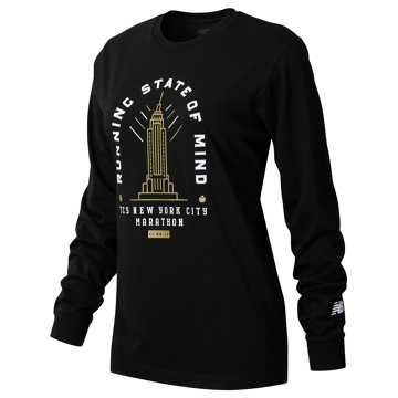 New Balance NYC Marathon Empire Long Sleeve, Black
