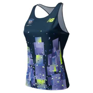 New Balance United Airlines NYC Half Singlet, Imperial
