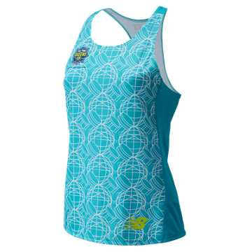 New Balance Women's Queens 10k Singlet, Maldives Blue