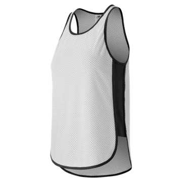 New Balance Determination Mesh Tank, Black with White