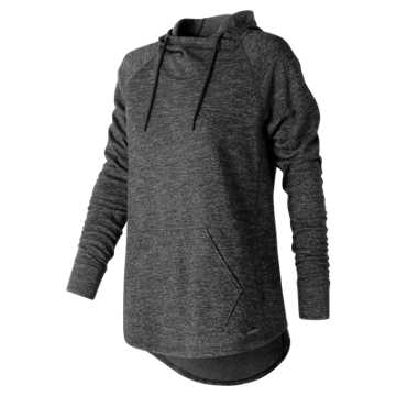 New Balance Evolve Hoodie, Black Heather