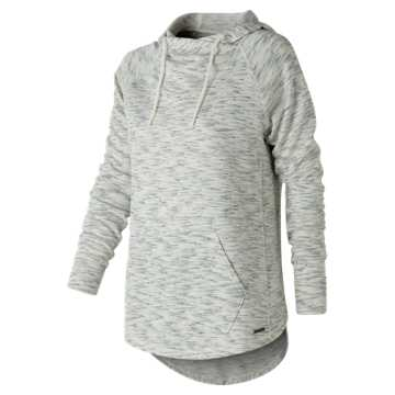 New Balance Evolve Hoodie, Sea Salt with Pigment Heather